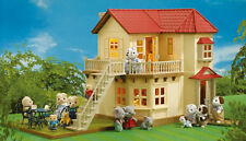 SALE Sylvanian Families Beechwood Hall Dolls House with Furniture Family Ulti...
