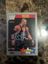 2017 TOPPS WWE HERITAGE KEVIN NASH SILVER 7/25 AUTOGRAPH