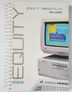 Original Epson Equity 386SX Plus User's Guide Illustrated
