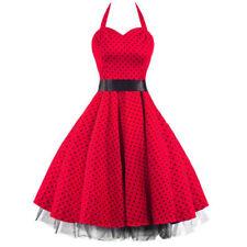 Damenkleider aus Baumwollmischung in Übergröße Retro