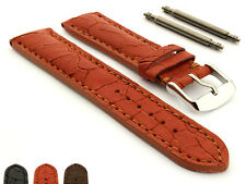Men's Padded Genuine Cracked Leather Watch Strap Band 18 20 22 24 Waterfall MM