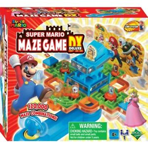 Super Mario Maze Game DX Deluxe Joystick 3D Marble Family Fun Party 120000 Combo