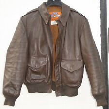 USAF A2 COOPER SPORTSWEAR MFG BROWN LEATHER FLYING FLIGHT PILOT JACKET A-2 SZ 42
