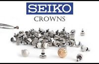 SEIKO CROWN Winding Waterproof Gasket SS / Gold Plated Watch Genuine Japan Made