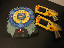 Nerf Talking Electronic Dart Board Stop The Noise with 2 Nerf Guns