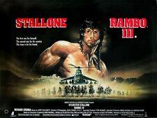 "RAMBO III repro UK quad film poster 30x40"" Sylvester Stallone Richard Crenna 3"