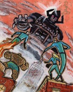 Rittenhouse Marvel Fantastic Four AP Sketch Renae Deliz F4 vs Galactus