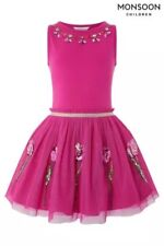 Monsoon Girls Disco Tulip Dress Size-12-13 Years