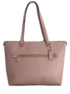 Coach Blossom Gallery Tote Crossgrain Leather Rose Bouquet Interior Purse NWT
