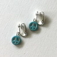 Peace Symbol Clip-On Earrings