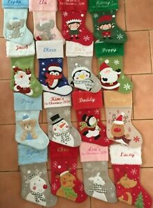 Embroidered Christmas Stocking-Personalized 'My 1st Christmas & name' or name