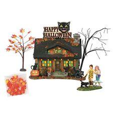 Department 56 Snow Village Halloween The Black Cat Flat Lit House 6000661 Svh