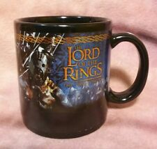 Lord of the Rings THE TWO TOWERS Mug Black Villains Coffee Cup - 2002 Applause