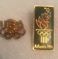 USA 1996 Olympics Pins 2 Different Pins