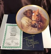 Authentic Collector Plate Forever Friends Man O War & Will Harbut By Fred Stone