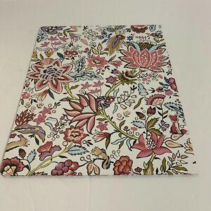 Vera Bradley Pocket Folder Maplewood Floral 2 Interior Pockets Pink