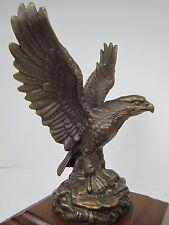 Vtg Bronze Brass Eagle Art Statue wonderful ornate detailing throughout artwork