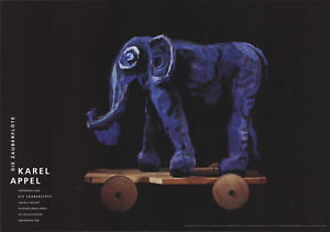 KAREL APPEL Die Zauberflote (Magic Flute), Elephant 27.5 x 39.25 Poster 1995 Exp