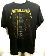 Metallica Tee Shirt XL Black Heavy Gauge 100% Cotton Guitar Graphic Rock Music