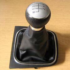 Pomello Cambio in 6 Marce e Cuffia Pelle VW Golf V VI mk5 mk6 Tiguan EOS