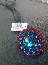 """Chico's brooch ted, blue, clear rhimestones NWTs """"Parafina"""""""