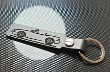 Porte-clés en cuir pour Mazda RX7 RX8 Eunos Roadster MX5 Miata