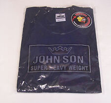 John Son Premium Quality Navy T-Shirt XL TALL 100% Cotton Piranha Records