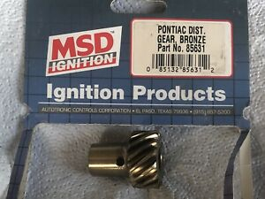 pontiac  455 428 400 bronze distributor gear msd new Gto Firebird 85631