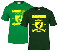 Norwich Champions 2021..Back In The Prem T.shirt For Norwich City Fans-PRE ORDER