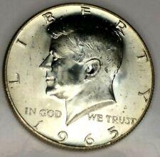 1965-P 50C Kennedy Half Dollar 19uuc0810 BU 40% Silver  50 Cents Shipping