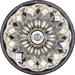 Marble Beautiful Table Dining Top Outdoor Mosaic Inlay Traditional Decors H3904