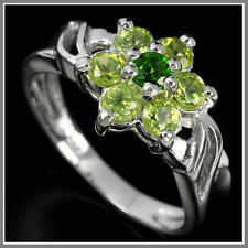 Chrome Diopside Sterling Silver Fine Rings