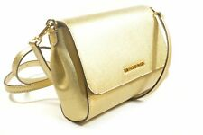 Michael Kors 35T8MTTU6M Jet Set Item Pale Gold Convertible Pouchette Leather ...
