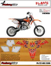 Flame Motocross Graphics KTM SX 50 2002-2008 Dirt Bike Graphics By ENJOY MFG