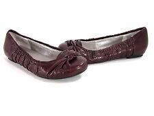 ME TOO WOMEN'S LAWTON COMFORT BALLET FLATS BURGUNDY LEATHER US SIZE 8.5 MEDIUM