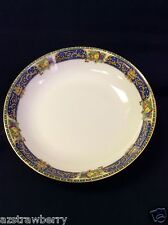 J Pouyat JP LIMOGES  France W lot of 4 soup bowl china cobalt blue gold scroll