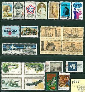 US 1971 commemorative year set  Historic Preservation