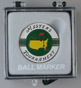 2010 Masters BALL MARK Marker from AUGUSTA (IN CASE)
