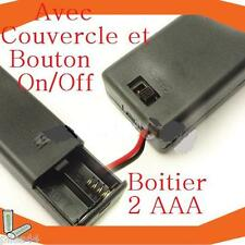 Boitier Bloc Support Coupleur 2 Battery AAA  R03 Lr3 Lr03 3V 2.4V Bouton On Off