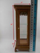 Small Vintage Teak Wood Cabinet Craft Handmade Carved Cupboard Furniture rectang
