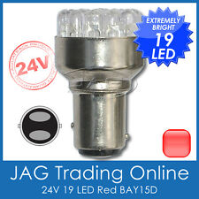 24V 19-LED BAY15D RED 1157 AUTOMOTIVE STOP/TAIL GLOBE - Truck/Trailer Light Bulb