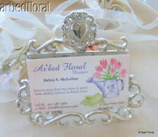 Bright HEART Silver Nickel Business Card Holder