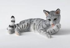 A24812 Border Fine Arts Studio Grey  Cat Lying Figurine