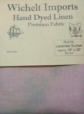 "Wichelt Hand Dyed 100% Linen Lavender Sunset 28 Ct 18"" x 26"" Cross Stitch Fabric"