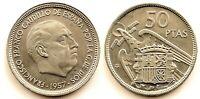 Spain-Estado Español. 50 Pesetas 1957*60. Madrid. SC/UNC. Niquel 12,5 g.
