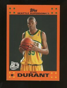 2007-08 Topps Rookie Card Orange #2 Kevin Durant Supersonics RC Rookie