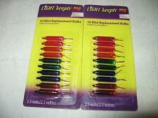 Light Keeper Pro - 2 Packs of 10 Mini Replacement Bulbs - Multi Color 2.5V Volts