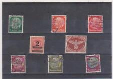 francobolli  blocco di 8 francobolli anni 30/40 germania ( 1 )