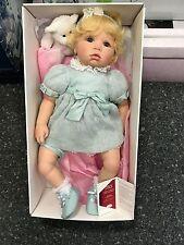 Götz Puppe Hildegard Günzel Vinyl Puppe Baby Bleu 64 cm. Top Zustand
