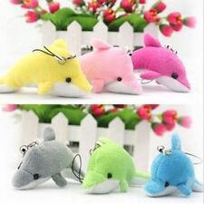 1pc Dolphin Shape Plush Soft Kids Toy Keychain Pendant Cell Phone Car Handbag